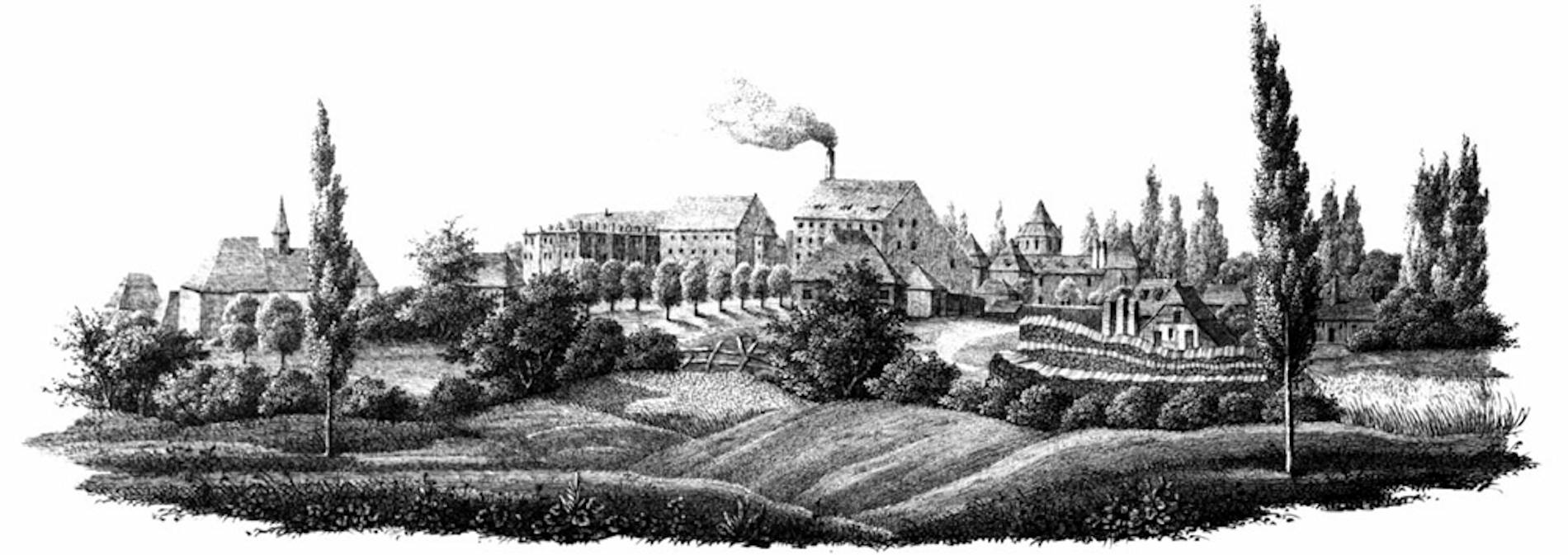 Waghäusel Sugar factory in 1837.